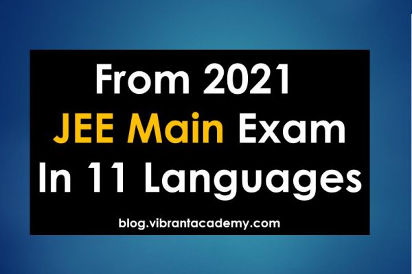 From 2021 JEE Main Exam In 11 Languages