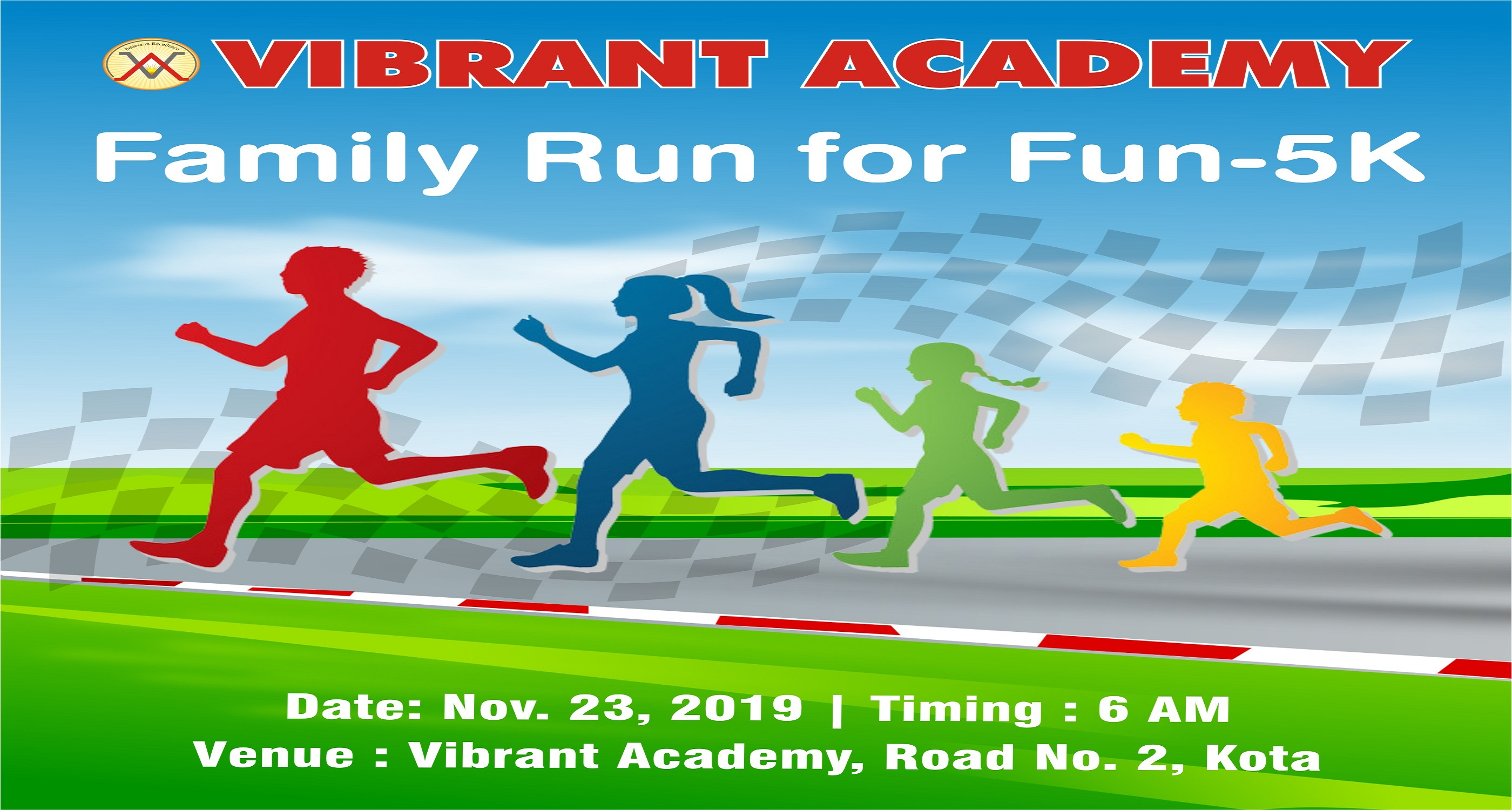 Vibrant Academy Organize Family Run For Fun 5k