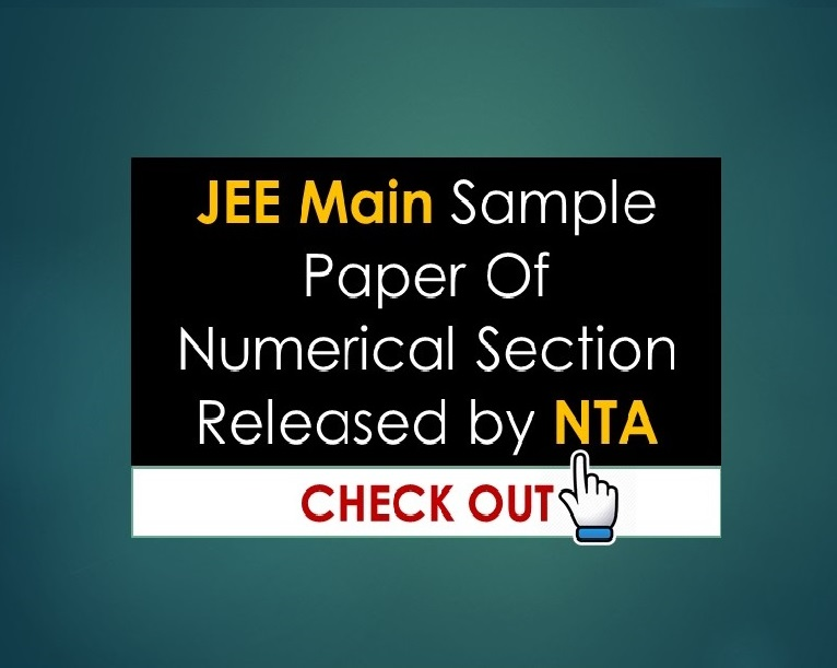 JEE Main Sample Paper Of Numerical Section Released by NTA