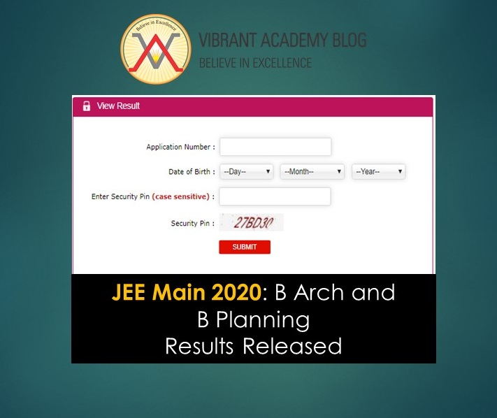 JEE Main 2020: B Arch and B Planning Results Released