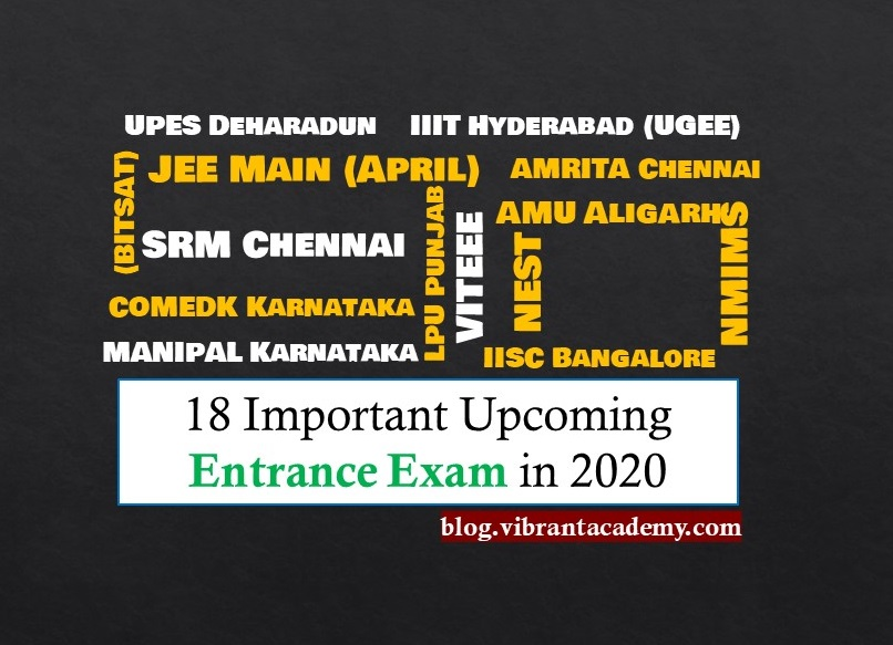 18 Important Upcoming Entrance Exam in 2020